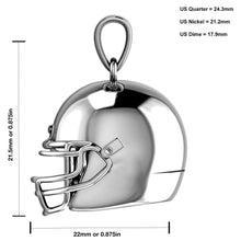 Silver Pendant - 3D Necklace In Football Helmet Design graph