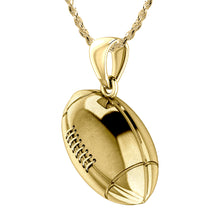 Football Necklace - Yellow Gold Necklace In 3D