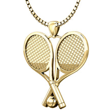 Tennis Necklace - Tennis Racket & Ball Pendant Necklace