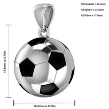 Soccer Ball Necklace - Football Pendant In 925 Silver size