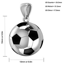 Soccer Ball Necklace - Football Pendant In 925 Silver model graph