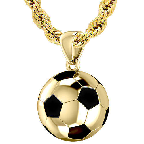 Soccer Ball Necklace - 3D Football Pendant