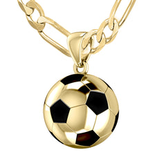 Gold 3D Soccer Ball Football Pendant Necklace