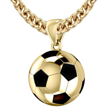 3D Soccer Ball Football Pendant Necklace, 18.5mm