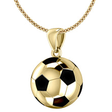 Gold Soccer Ball Football Pendant Necklace
