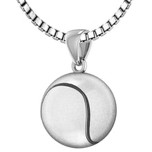 Tennis Ball Necklace In Sterling Silver - 1.5mm Box Chain