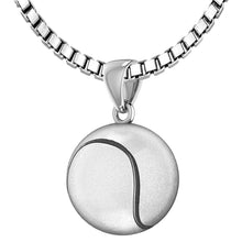 Tennis Ball Necklace In Sterling Silver - 2.2mm Box Chain