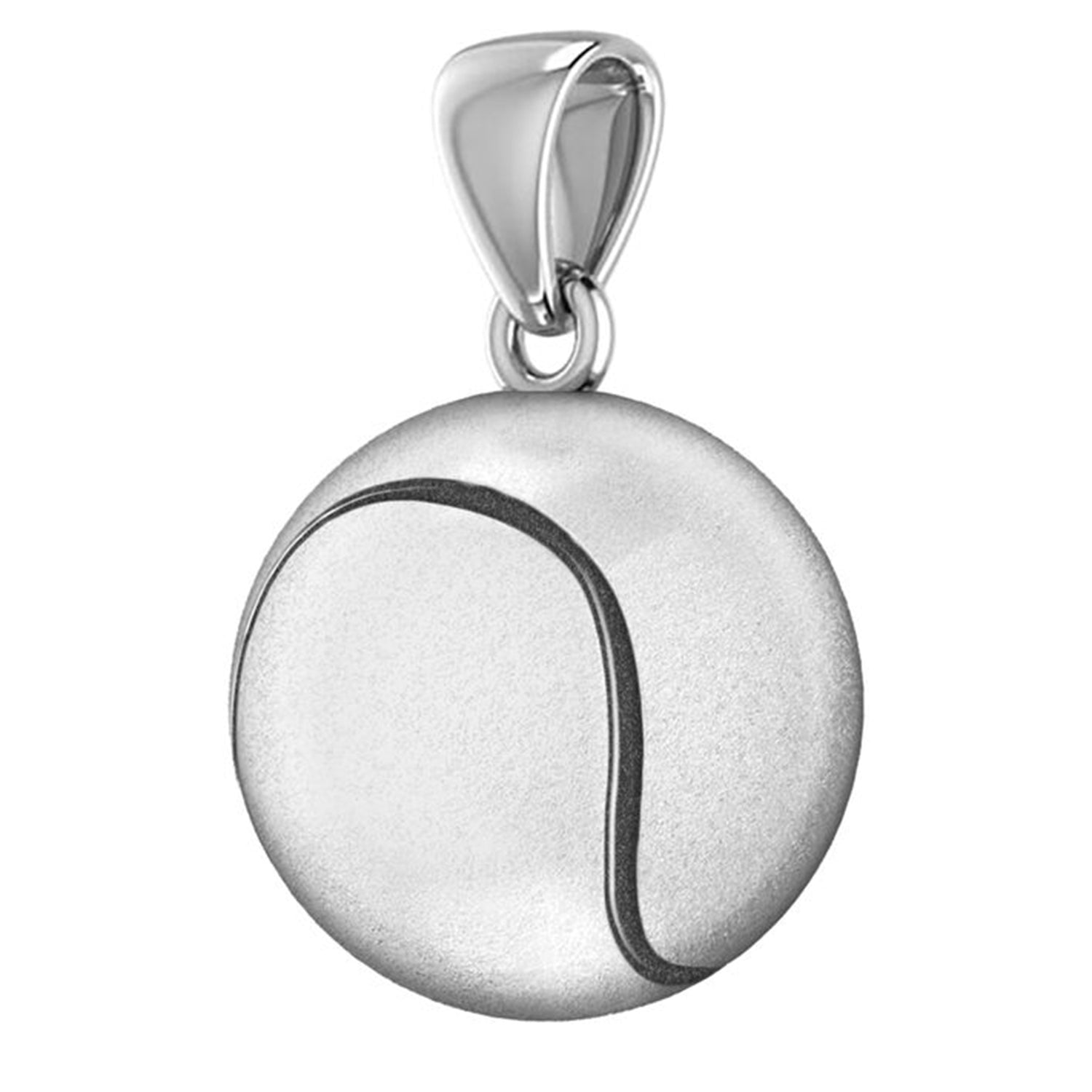Tennis Ball Necklace In Sterling Silver - Pendant Only