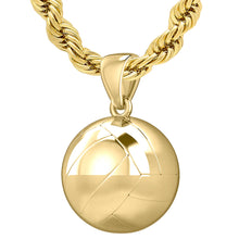 Volleyball Necklace - Gold Volley Ball Pendant Necklace