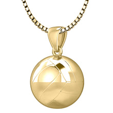 Volley Ball Necklace In 3D Design - 1.0mm Box Chain
