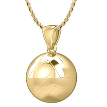 Volley Ball Necklace In 3D Design - 1.0mm Rope Chain
