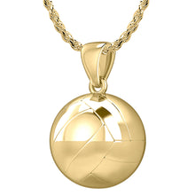 Volley Ball Necklace In 3D Design - 1.5mm Rope Chain