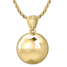 Volley Ball Necklace In 3D Design - 1.75mm Rope Chain