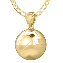 Volley Ball Necklace In 3D Design - 2.2mm Figaro Chain