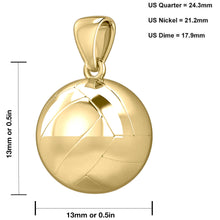 Volley Ball Necklace Of Yellow Gold In 3D - Graph image