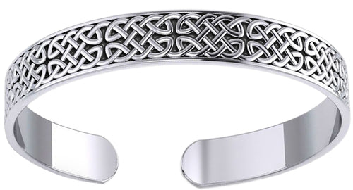 Cuff Bracelet - Celtic Bracelet In Sterling Silver