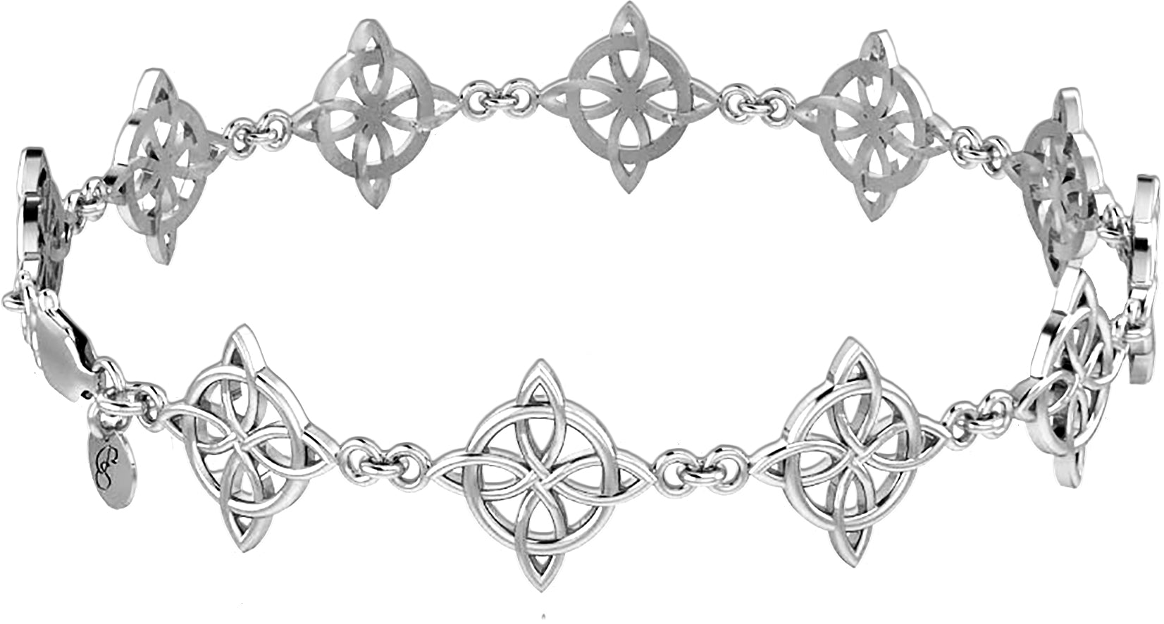 Sterling Silver Bracelet - Link Bracelet Four Point