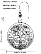 Dangle Earrings Tree of Life 0.925 Sterling Silver - Details