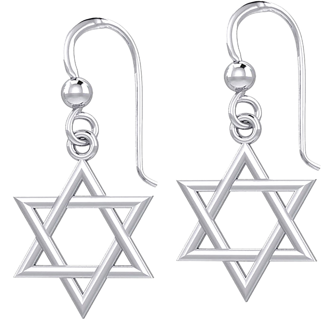Sterling Silver Earrings - Star Of David Earrings Pair