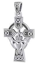 Claddagh Necklace With Cross Pendant - Front View