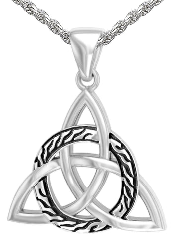 Triquetra Necklace - Pendant Necklace With Celtic Knot