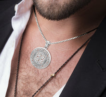 Celtic Necklace With Irish Knotwork Pendant - Worn On Neck