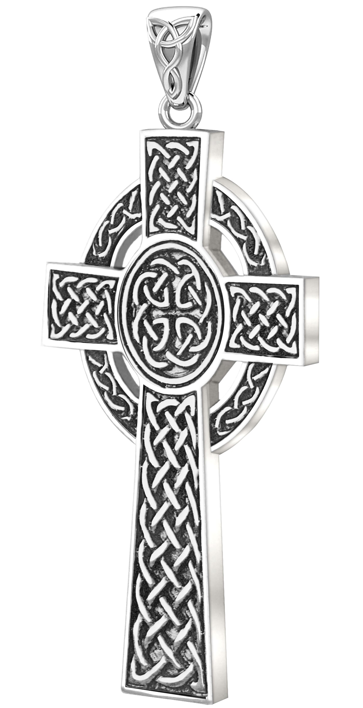Celtic Cross Necklace Of Sterling Silver - No Chain