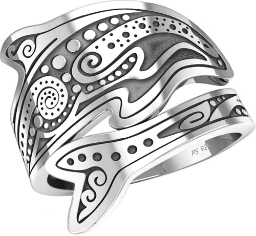 Tattoo Ring - Spoon Ring For Women In Sterling Silver