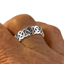 Sterling Silver Irish Celtic Knot Wedding Ring Band - Men