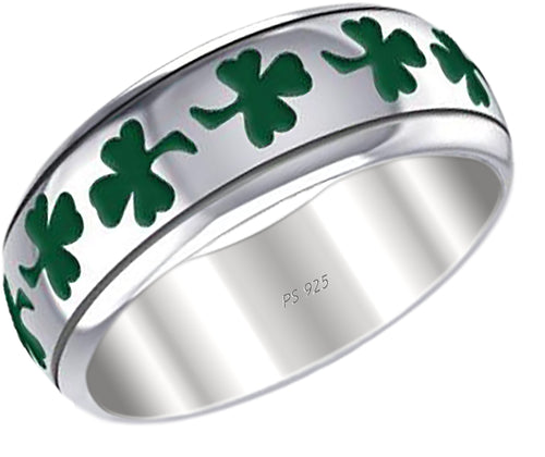 Shamrock Ring - Celtic Shamrock Leaf Clover Wedding Ring