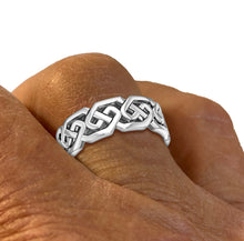 Sterling Silver Irish Celtic Knot Ring Band For Ladies