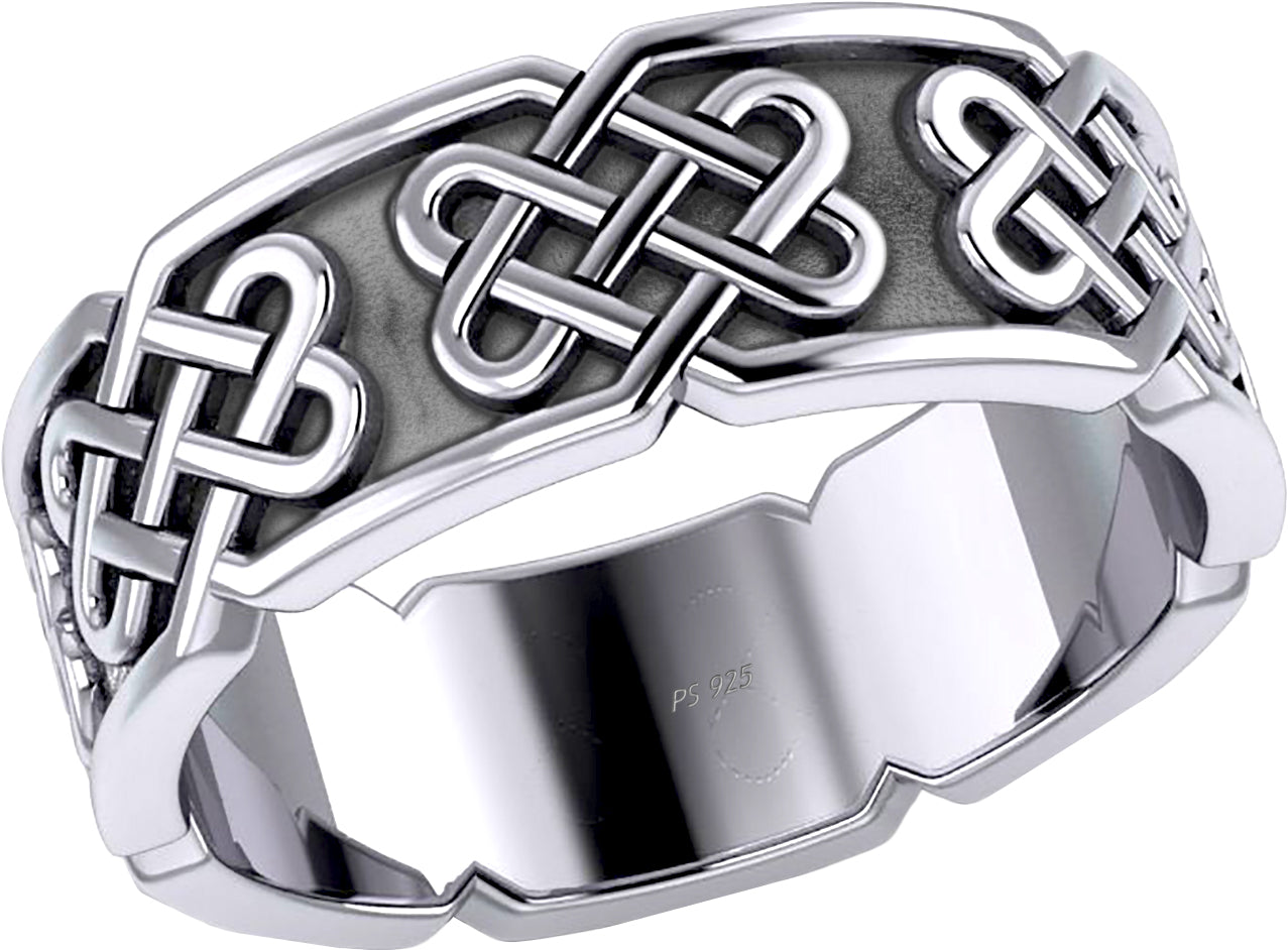 Celtic Knot Ring - Sterling Silver Ring With 925 Purity