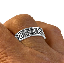 Celtic Knot Ring In Silver With 925 Purity - Worn On Finger
