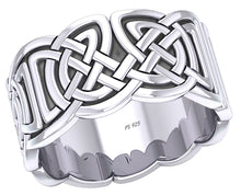 Celtic Weave Knotwork Band Ring Sterling Silver