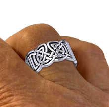 Celtic Weave Knotwork Band Ring Sterling Silver - Men