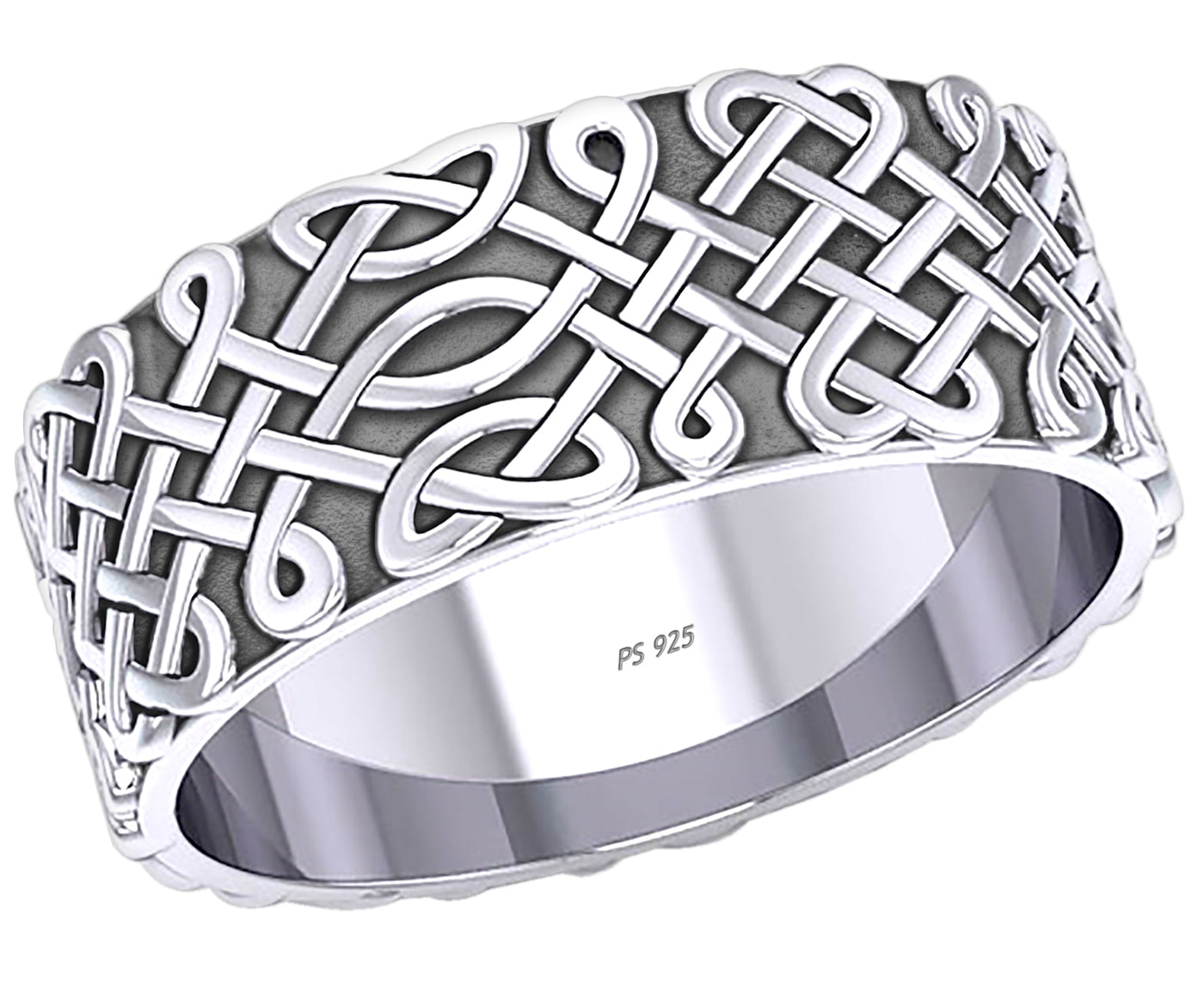 Irish Ring - Celtic Ring With Endless Knot For Men