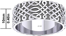 Irish Ring With Celtic Endless Knot For Men - Size