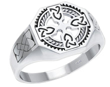 Cross Ring Men In 0.925 Sterling Silver - Full View