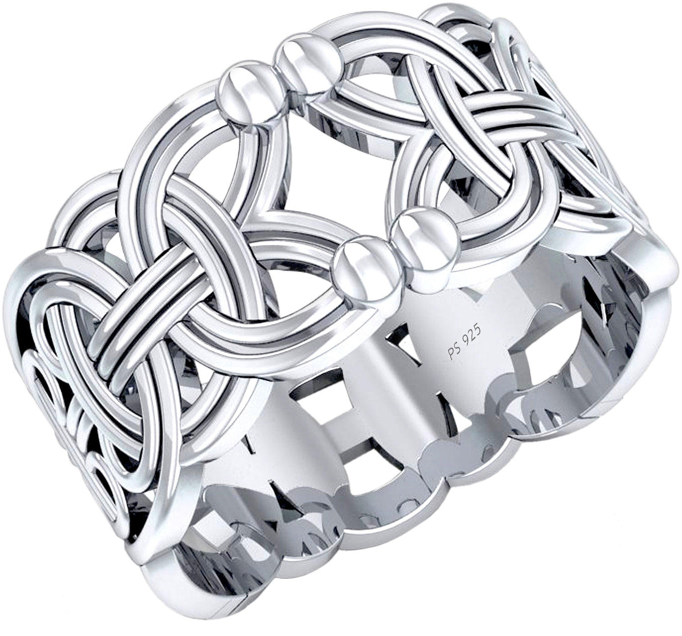 Band Ring - Viking Rings Men In 0.925 Sterling Silver