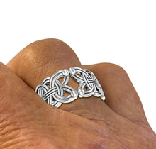 Band Ring Men In 0.925 Sterling Silver - Worn On Finger
