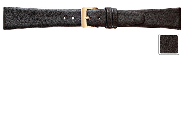 Watch Band - Leather Watch Band Black Extra Long