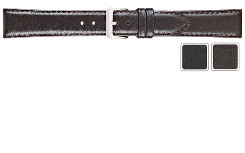 Watch Band - Leather Watch Strap Of Smooth Calf Leather