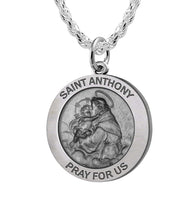 Round Pendant Necklace - Saint Anthony Necklace