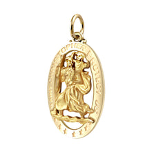 St Christopher Necklace In Pierced Design - Pendant Only