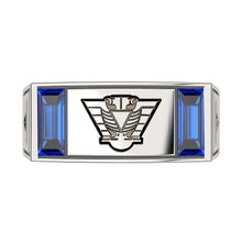 Masonic Ring Scottish Rite With Synthetic Sapphire Gemstone