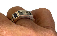Masonic Ring Scottish Rite In Fine 0.925 Sterling Silver