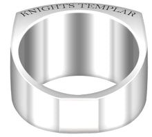 Knights Templar Ring Band Freemason - Bottom View