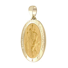 St Christopher Necklace In 14K Gold - Pendant Only