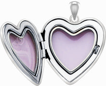 Diamond Pendant Necklace In Heart With 2 Photo - Interior