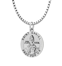 Pendant Necklace With Saint Daniel - 2.2mm Box Chain